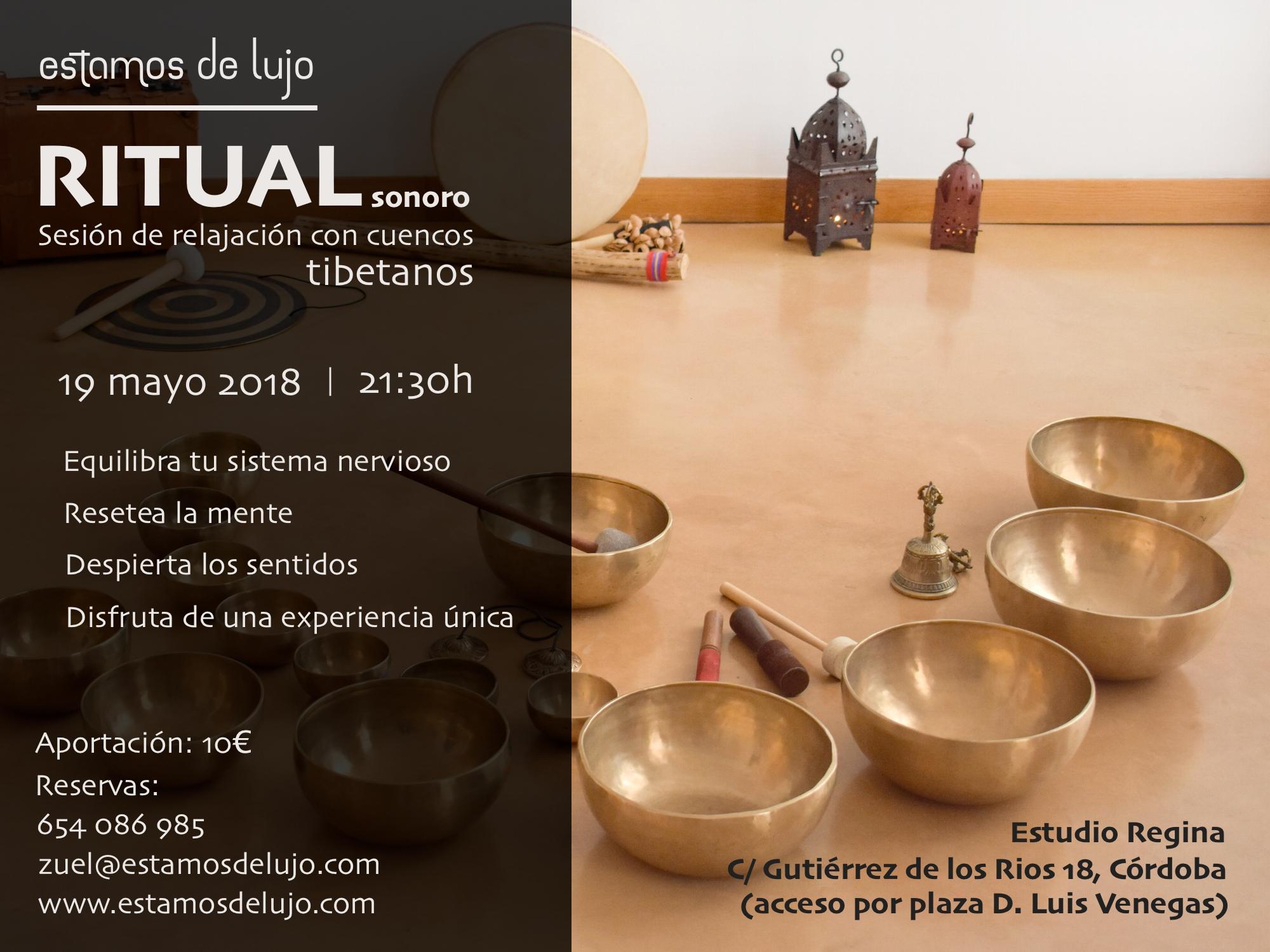 Ritual sonoro con cuencos tibetanos