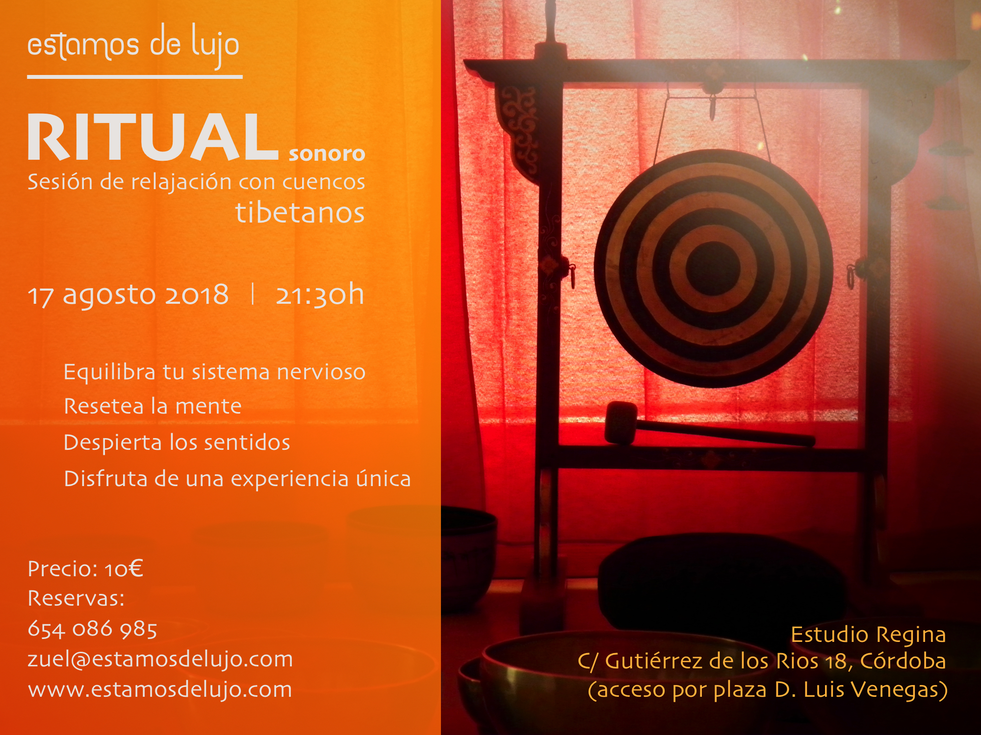 Ritual sonoro 17 agosto @ Estudio Regina