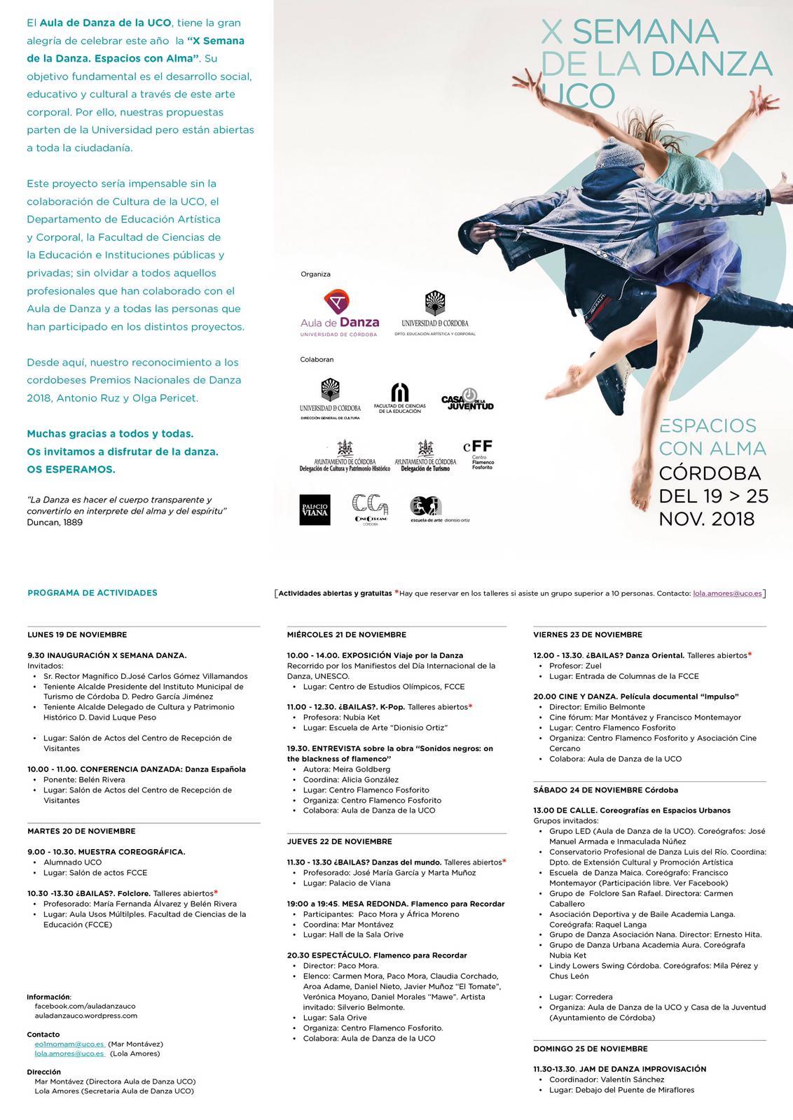 Taller abierto de danza oriental @ Facultad de Ciencias de la Educación (Espacio porticado de entrada).