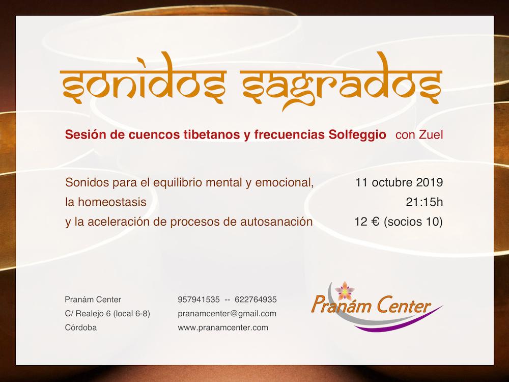 Sesión cuencos tibetanos Pranám Center