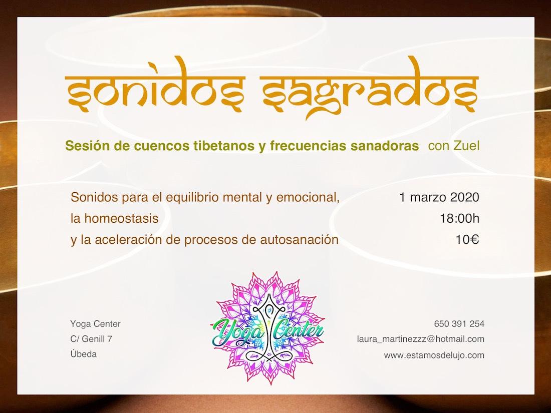 Concierto de cuencos tibetanos en Úbeda @ Yoga Center